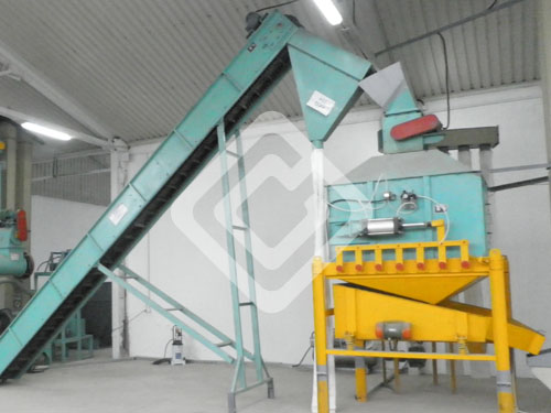 pellet conveyor and cooler