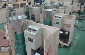 wood pellet equipment packing