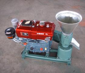 wood pellet euqipment with diesel engine
