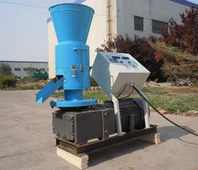 pellet equipment with electric motor